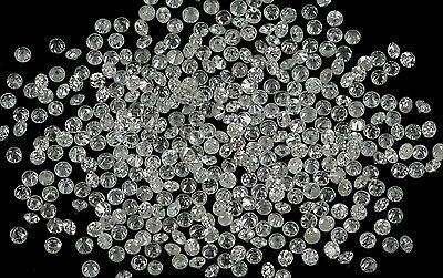 Real 100% Natural Loose Round Diamonds I1-I3,G-H 50 pcs 0.70 To 1.10 MM N5