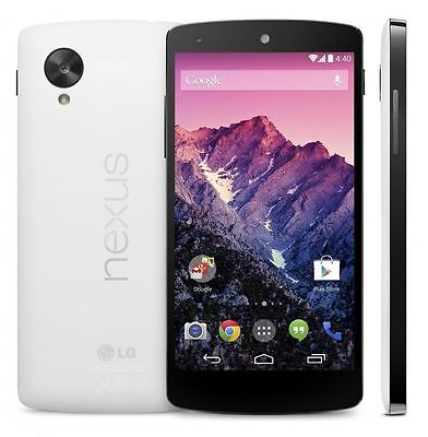 "White New original LG Nexus 5 D820 16GB (Unlocked) Smartphone 8MP GPS 4.95"" GSM"