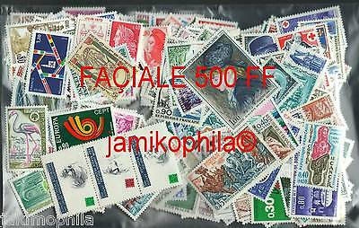 Lot timbres neufs **  Faciale 500 FF