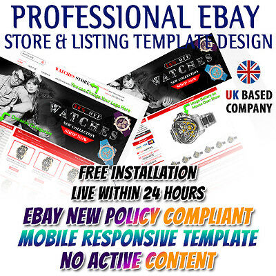 Amazing eBay Shop HTML, Listing Mobile Responsive Template for Electronics