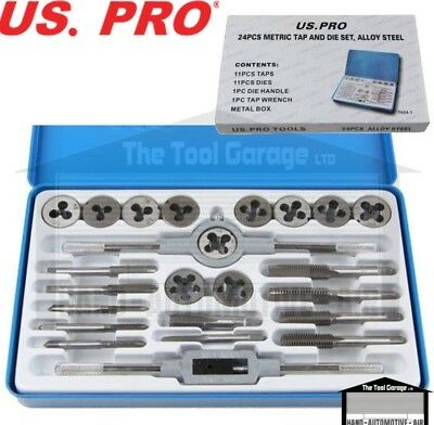 US PRO Tools 24pc Metric Tap and Die Set NEW 2509