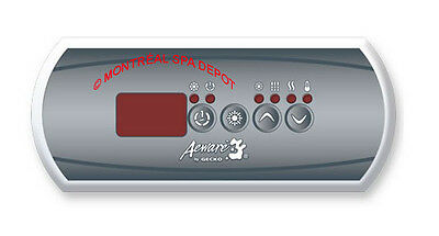 Gecko Aeware Topside control panel 4-buttons keypad IN.K200 + Overlay for 1 pump