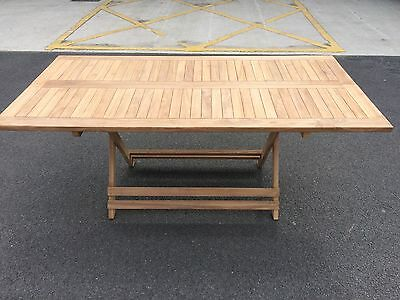 The Mr Teak Easy Store Folding Rectangle Table 180Cm  X 90Cm
