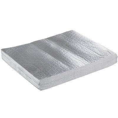 """(2000-Pack) 10 3/4"""" x 14"""" Insulated Foil Sandwich Wrap Sheets"""