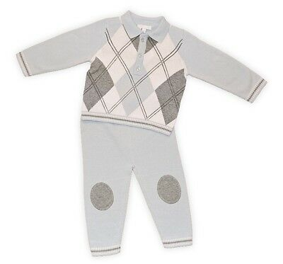 Baby Boys Knitted 2 piece Jumper & Trousers by Zip Zap 0-3 3-6 6-9 Months