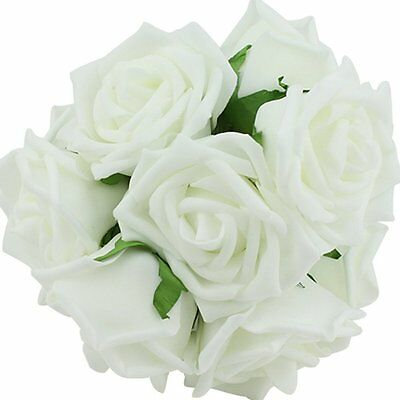 Beauty Bridal Rose Flower Party Wedding Bridesmaid Decoration White DT