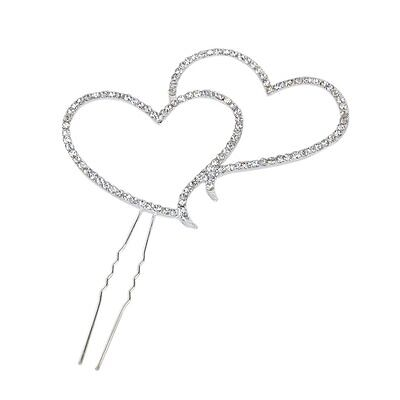 Double-Heart Cake Topper Decoration for WN3ding/Birthday Party DT