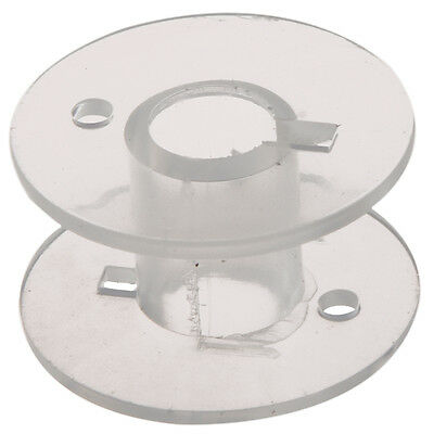 25 Clear Plastic Sewing Machine Bobbins Fits Singer Janome Toyota DT