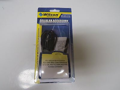 Wilson 301113 Mini Magnet Mount Antenna w12.5ft FME Female connector