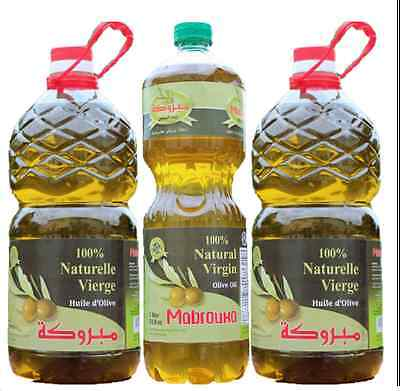 The NEW 100% Natural Virgin Olive Oil Mabrouka from Morocco (5L/ 1.32 Gallons)