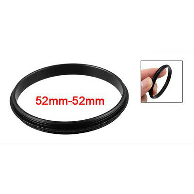 52mm Male to Male Metal Step Ring Adapter Black For Camera T1