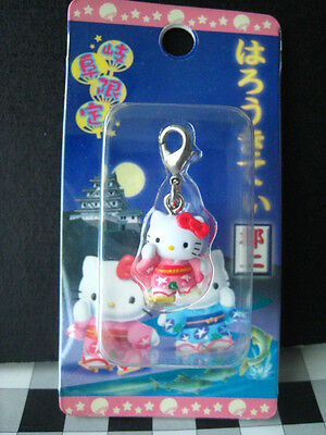 2003 Sanrio Japan Auth Hello Kitty JAPANESE kimono Doll charm keychain new