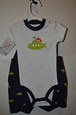 Carters  Infant  Boys 2  Piece Set  Size 3M NWT Submarine
