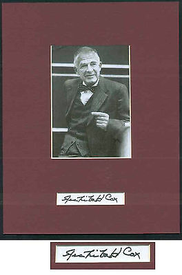 Archibald Cox - Watergate - Personally Autographed Card and Photo