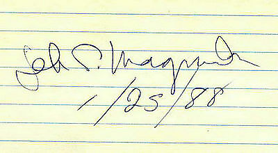 Jeb Magruder - Watergate - Personally Autographed Card