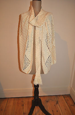 Vintage 60's Crochet Cape/Shawl Jacket/Top