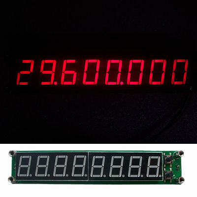 PLJ-8LED-R Red 0.1MHZ - 2.4GHz RF Signal Frequency Counter Cymometer Tester