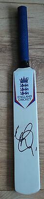 MINI ENGLAND CRICKET BAT HAND SIGNED IN BLACK By MOEEN ALI