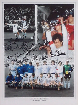 Aston Villa 1982 European Cup Signed 12 Peter Withe Mortimer Morley Cowans