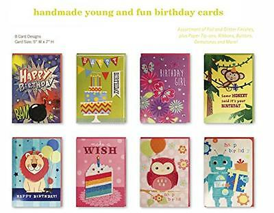Hallmark christmas handmade boxed assorted greeting cards set pack assorted 8 pack handmade embellished birthday greeting cards boxed set of 8 desi bookmarktalkfo Gallery