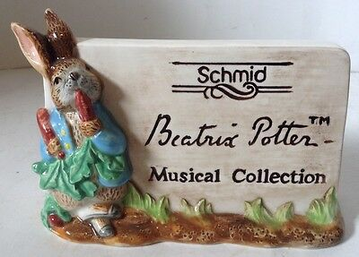 Schmid Beatrix Potter Musical Collection Ceramic Store Dealer Display Sign