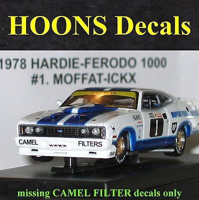 1:64 Waterslide missing CAMEL Decals Moffat, Bond 1978 Ford XC Cobra Coupe