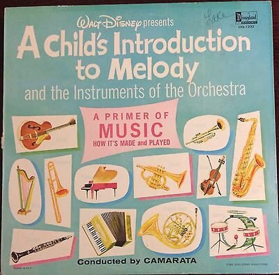 Vintage Walt Disney A Child's Introduction To Melody DQ-1232 1964 33 Rpm Record