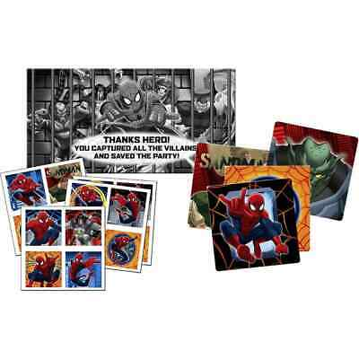JUSTICE LEAGUE BIRTHDAY Party Game for 8 - Pin the Emblem on