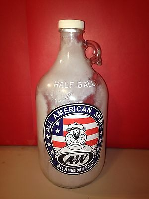 All American A & W spirit 1/2 gallon jug frosted!
