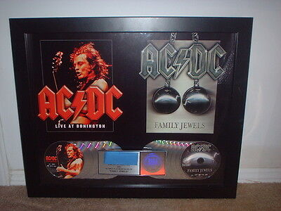 AC/DC RIAA MULTI PLATINUM RECORD AWARD for FAMILY JEWELS + LIVE. CUSTOM AWARD!!