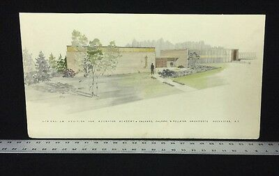Vintage Retro Illustration Art Dated 62 Architectural Rendering