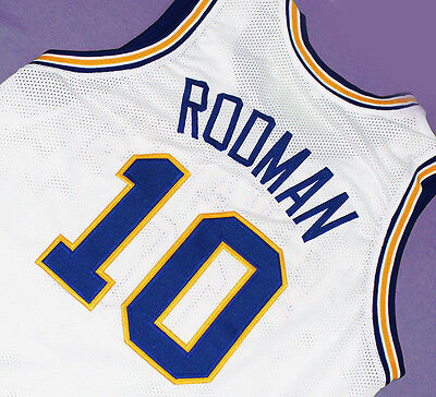 good 41fce c681c DENNIS RODMAN #10 Oklahoma Savages Jersey White Sewn New Any Size