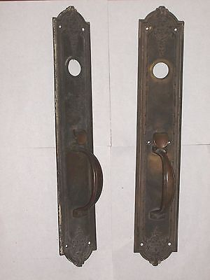 Antique Thumb Latch Door Plate, Very ornate, stamped 95180