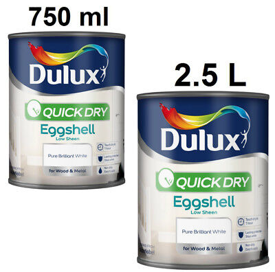 Dulux Quick Dry Eggshell Pure Brilliant White for Wood & Metal