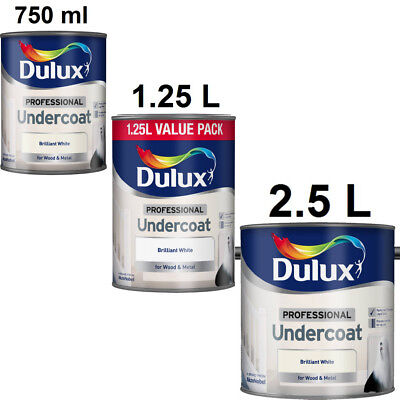 Dulux Professional Undercoat Paint Brilliant White for Wood and Metal
