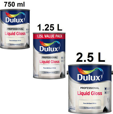 Dulux Professional Liquid Gloss Pure Brilliant White For Wood And Metal