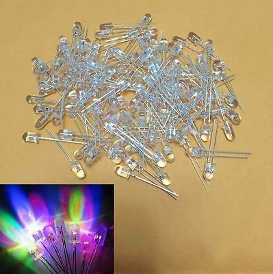 (100 PCS) 5mm RGB Colour SLOWLY Changing LED (red green blue) light flashing