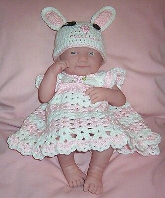 Berenguer La Newborn Reborn Pink Bunnt Rabbit Dress & Hat Fits Berenguer 14""