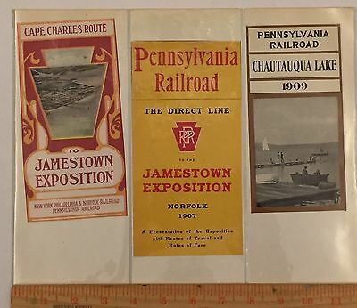 Antique Train Label Time Table Cover Lot Pennsylvania Railroad Jamestown