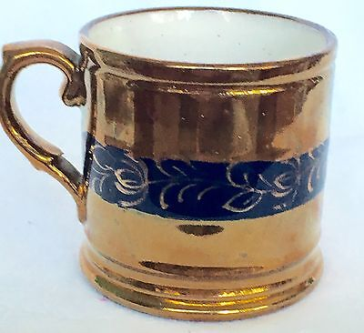 Beautiful Antique Cup/Mug Staffordshire Copper Luster Ware, 1800's
