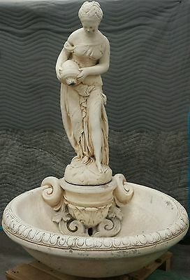 Architectural Salvage Antique fountain French Woman Pouring water cast concrete