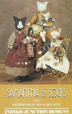 Kitty Cat Doll with Clothing Sewing Pattern UNCUT 18 Inch