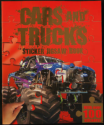 Cars And Trucks Sticker Jigsaw Book With Over 100 Stickers - Activity Fun Kids