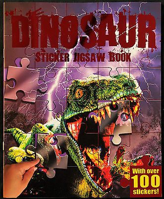 Dinosaur Sticker Jigsaw Book With Over 100 Stickers - Activity Fun Kids