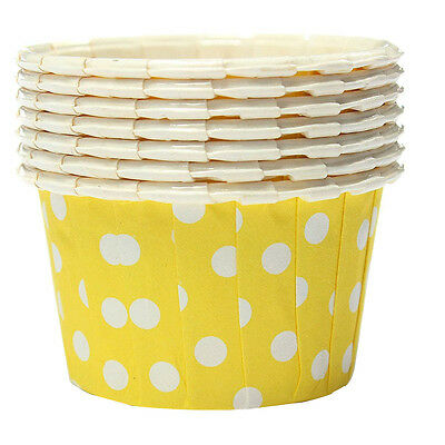100X Cupcake Wrapper Paper Cake Case Baking Cups Liner Muffin Yellow DT