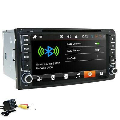 """HIZPO 6.2"""" HD 2Din GPS Car Radio Stereo DVD Player Bluetooth iPod For Toyota+Cam"""