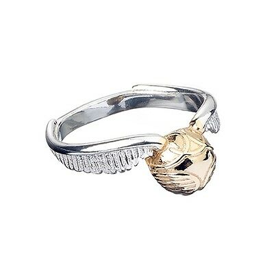 Harry Potter : GOLDEN SNITCH RING Sterling Silver from the Carat Shop size M