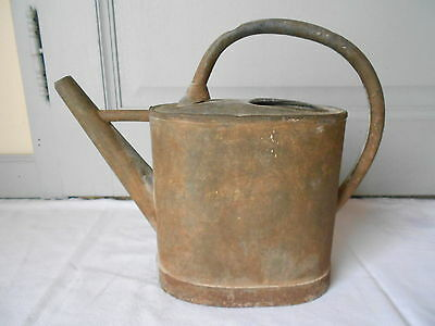 Vintage French shabby Zinc Garden Watering Can • CAD $60.40