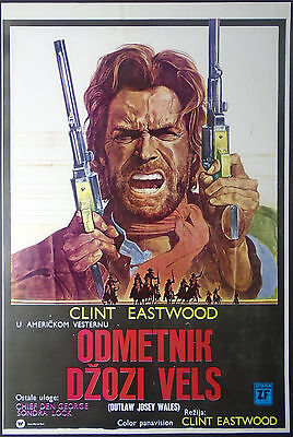 THE OUTLAW JOSEY WALES 1976 Original Movie Poster 39x55