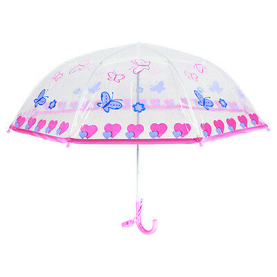 Transparent  Boy Girl Cartoon Children Umbrella For Kids